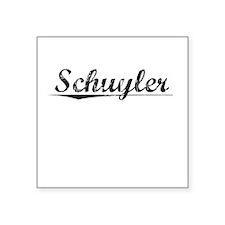 """Schuyler, Vintage Square Sticker 3"""" x 3"""""""