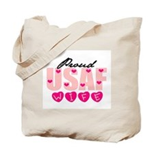Proud USAF Wife Tote Bag