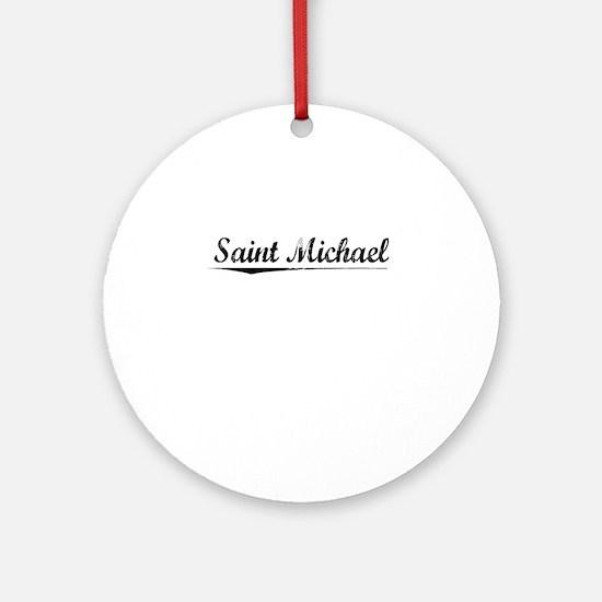 Saint Michael, Vintage Round Ornament