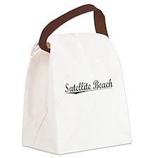 Satellite Beach, Vintage Canvas Lunch Bag