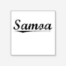 "Samoa, Vintage Square Sticker 3"" x 3"""