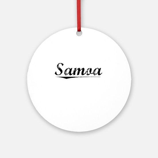 Samoa, Vintage Round Ornament