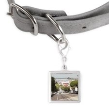 Alcatraz prison viewed from S Small Square Pet Tag