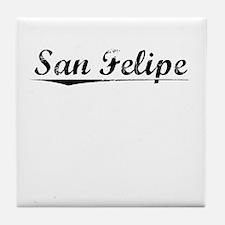 San Felipe, Vintage Tile Coaster