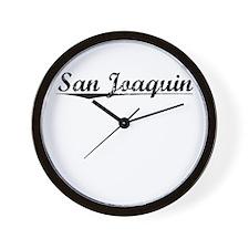 San Joaquin, Vintage Wall Clock
