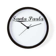 Santa Paula, Vintage Wall Clock