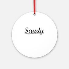 Sandy, Vintage Round Ornament