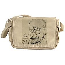 Sigmund Freud, Austrian psychologist Messenger Bag