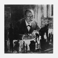 Sigmund Freud, Austrian psychologist Tile Coaster
