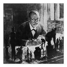 """Sigmund Freud, Austrian  Square Car Magnet 3"""" x 3"""""""