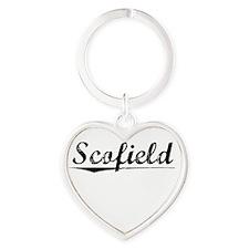 Scofield, Vintage Heart Keychain
