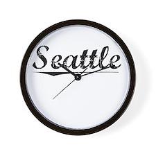 Seattle, Vintage Wall Clock