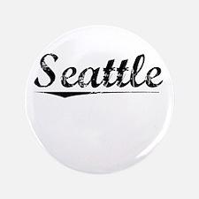 """Seattle, Vintage 3.5"""" Button"""