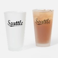 Seattle, Vintage Drinking Glass
