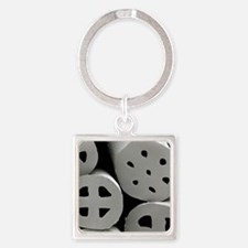 SEM of dacron polyester filling (H Square Keychain