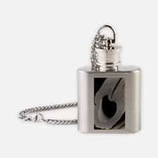 SEM of hollow viscose fibre Flask Necklace
