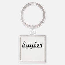 Saylor, Vintage Square Keychain