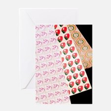 Sheets of LSD (acid) tabs Greeting Card