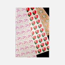 Sheets of LSD (acid) tabs Rectangle Magnet