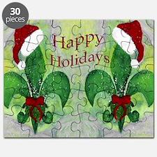Christmas Santa Fleur de lis Puzzle