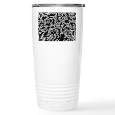 SEM of hollow viscose fibres Travel Mug