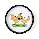Buff OE Bantams Wall Clock