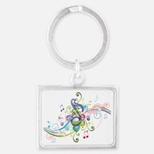 Music in the air Landscape Keychain