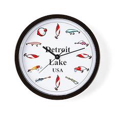 Detroit Lake Wall Clock