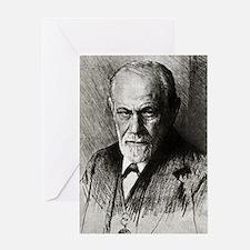 Sigmund Freud, Austrian psychologist Greeting Card