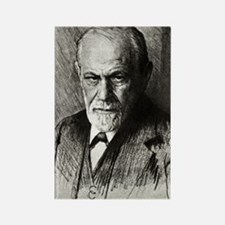 Sigmund Freud, Austrian psycholog Rectangle Magnet