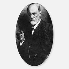Sigmund Freud, Austrian psychologis Sticker (Oval)