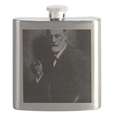Sigmund Freud, Austrian psychologist Flask