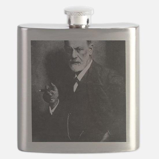 Sigmund Freud, Austrian psychologist Flask