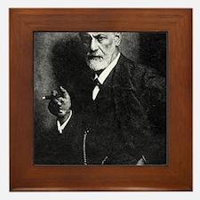 Sigmund Freud, Austrian psychologist Framed Tile