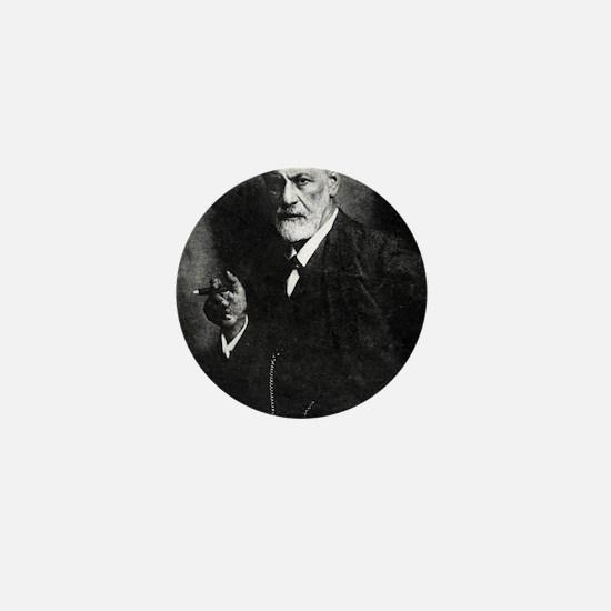 Sigmund Freud, Austrian psychologist Mini Button