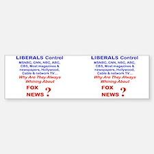 LIBERALS CONTROL MSNBC CNN AMC AB Bumper Stickers