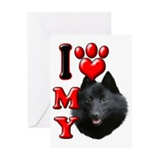 I Love My Schipperke Greeting Card