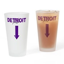 Made In Detroit Purple Drinking Glass