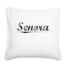 Senora, Vintage Square Canvas Pillow