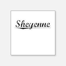 "Sheyenne, Vintage Square Sticker 3"" x 3"""