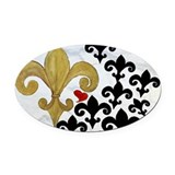 Fleur de lis Oval Car Magnets