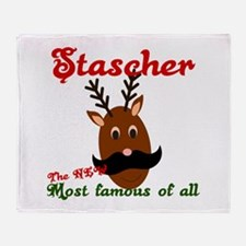 Most Famous Reindeer Throw Blanket