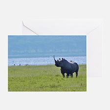 nakuru black rhino kenya collection Greeting Card