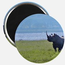 nakuru black rhino kenya collection Magnet