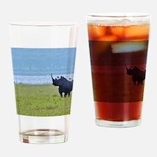 nakuru black rhino kenya collection Drinking Glass