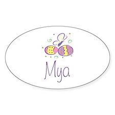 Easter Eggs - Mya Oval Decal