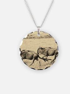 Wildebeest Crossing Sepia Necklace