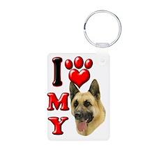 I Love My German Shepherd Keychains