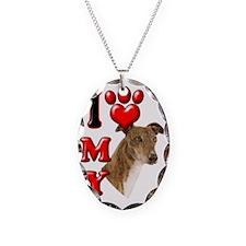 I Love My Greyhound Necklace