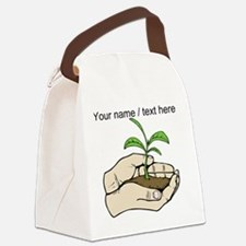 Custom Plant In Hands Canvas Lunch Bag